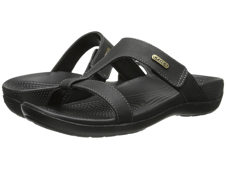 Crocs - Ella Comfort Path Sandal (Black/Black) Women