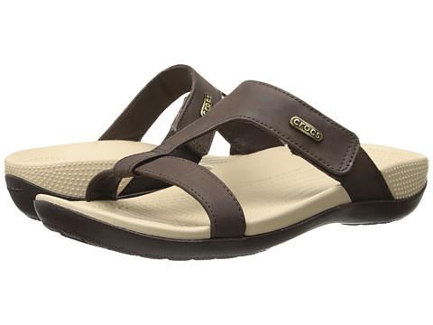 Crocs - Ella Comfort Path Sandal (Mahogany/Mahogany) Women