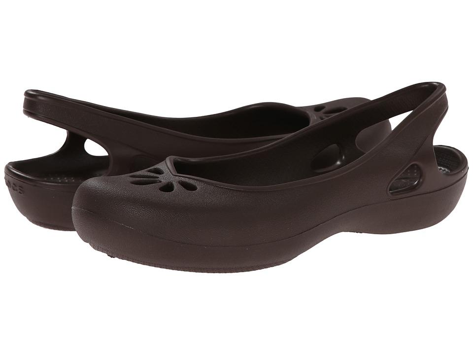 Crocs - Taylor Slingback (Mahogany) Women's Sling Back Shoes