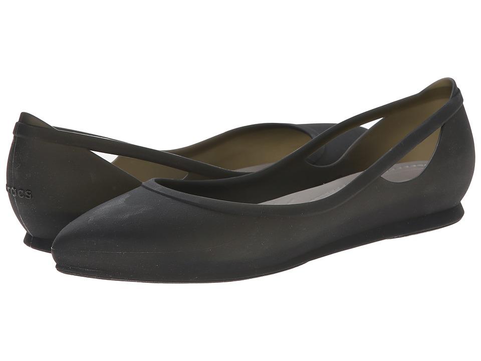 Crocs - Crocs Rio Flat (Black/Platinum) Women's Flat Shoes
