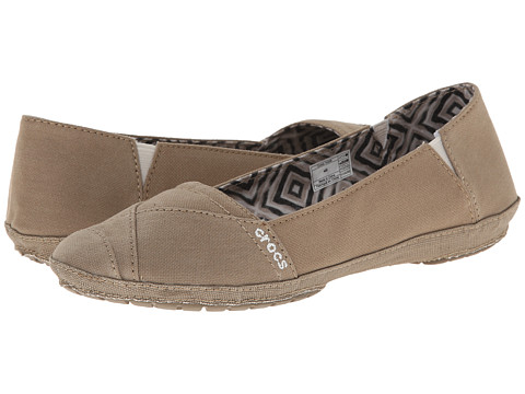 Crocs - Angeline Flat (Khaki/Khaki) Women's Flat Shoes