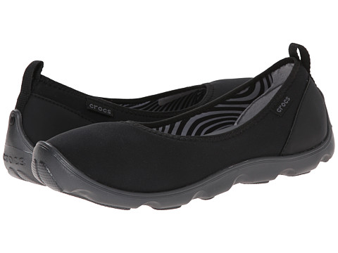 Crocs - Duet Busy Day Flat (Black/Graphite) Women
