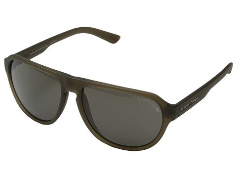 AX Armani Exchange - 0AX4028S (Matte Capers Transparent) Fashion Sunglasses