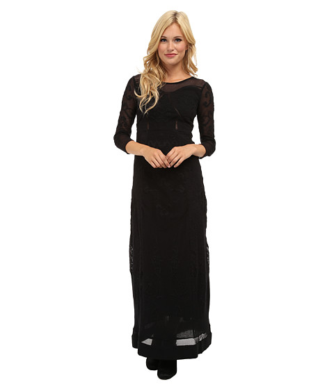 Free People - Say You Love Me Maxi Dress (Black) Women's Dress