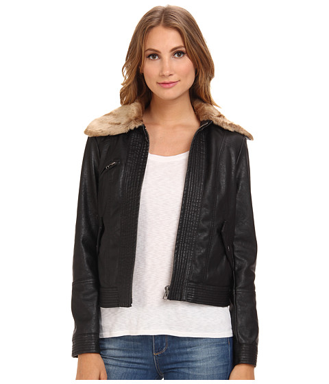 Free People - Vegan Aviator Jacket (Black) Women's Jacket