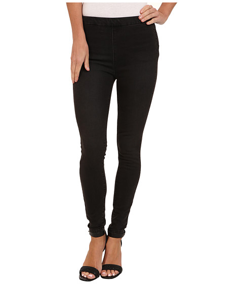 Free People - Hi Rise Black Crop Pant (Lorde Wash) Women