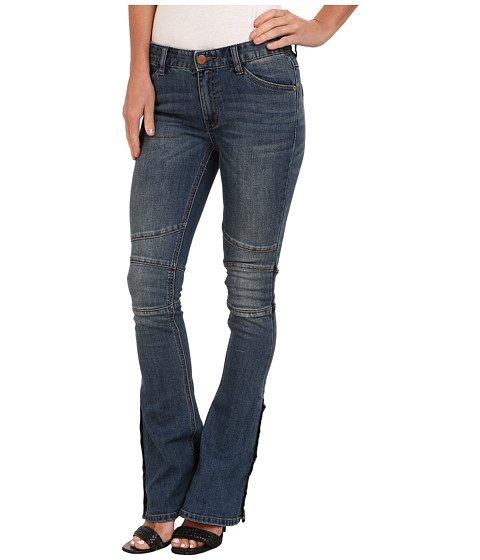 Free People - Seamed Denim Flare (Crate Blue) Women's Jeans