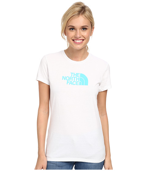The North Face - S/S Half Dome Tee (TNF White/Fortuna Blue) Women's T Shirt