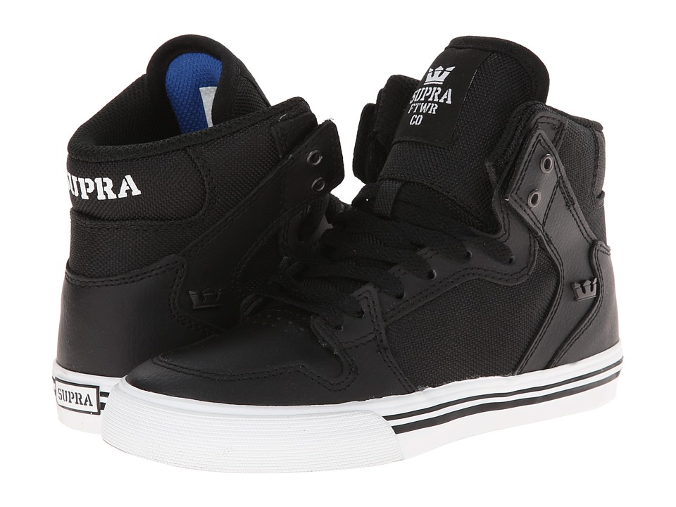Supra Kids - Vaider (Little Kid/Big Kid) (Black/Black) Boys Shoes