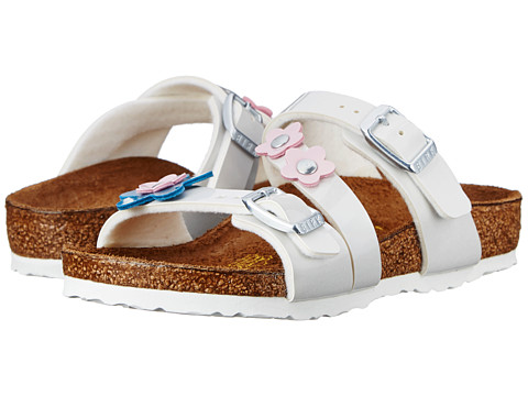 Birkenstock Kids - Salina (Toddler/Little Kid/Big Kid) (Pearly White Birko-Flor ) Girls Shoes