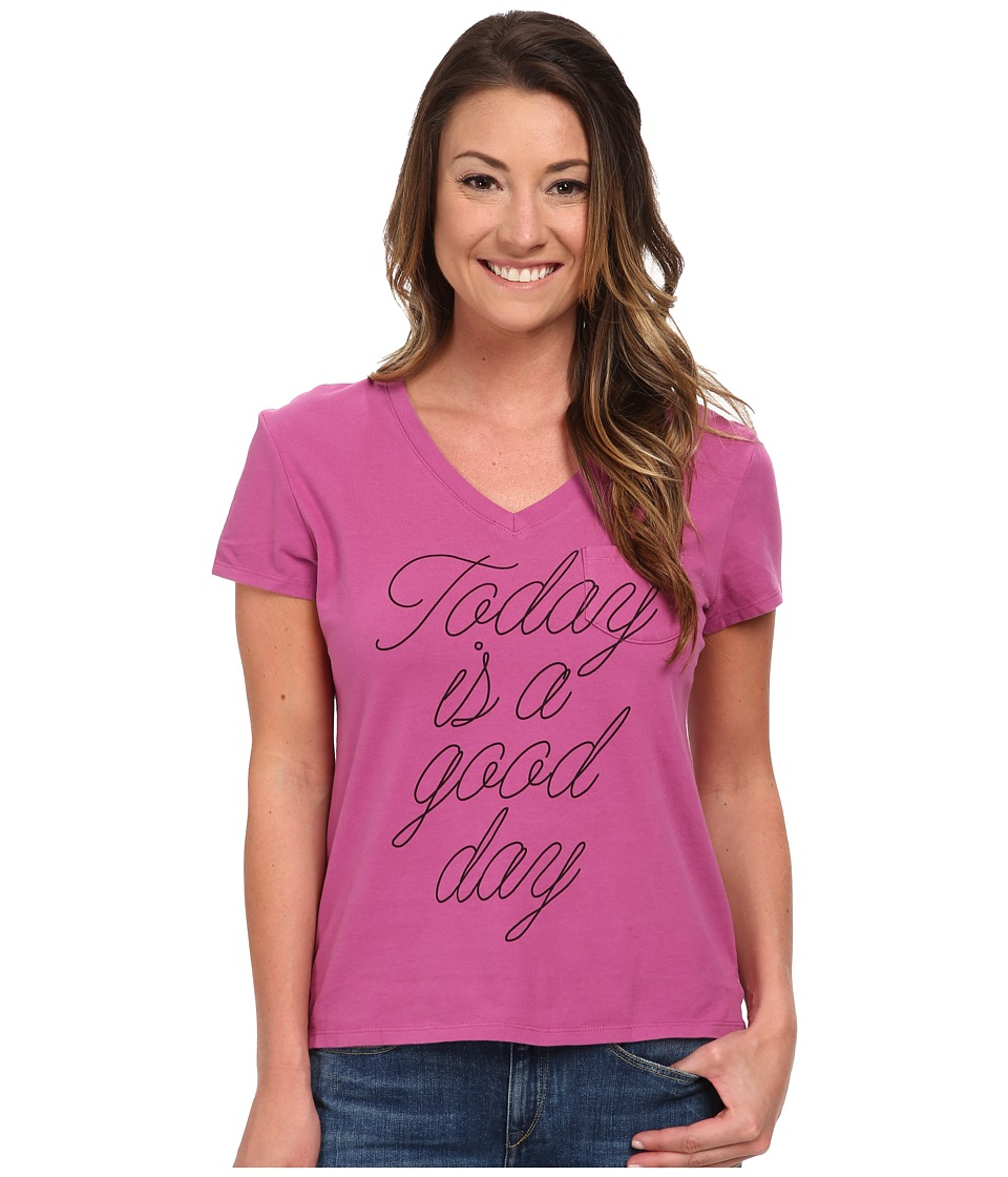 Life is good - Pocket Sleep Vee (Fresh Raspberry) Women's T Shirt