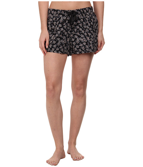 Life is good - Sleep Boxer (Night Black Floral) Women