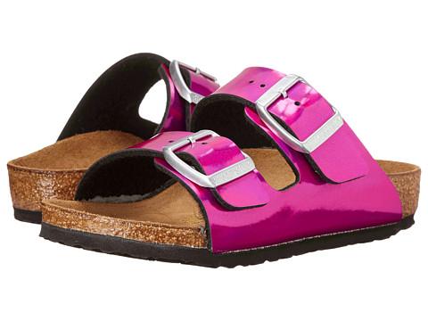 Birkenstock Kids - Arizona (Toddler/Little Kid/Big Kid) (Mirror Pink Birko-Flor ) Girls Shoes
