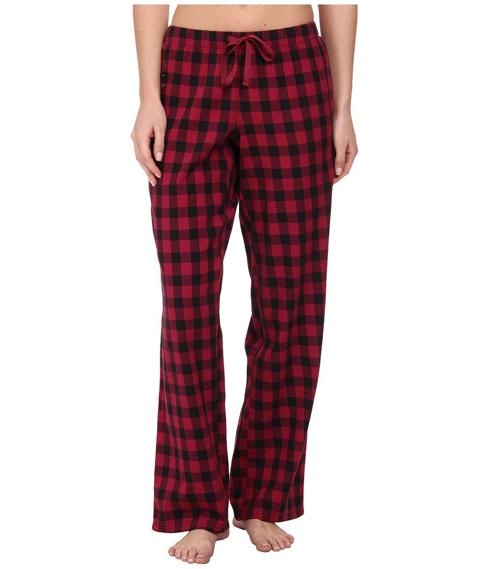 Life is good - Sleep Pants (Wild Cherry Buffalo Check) Women's Pajama