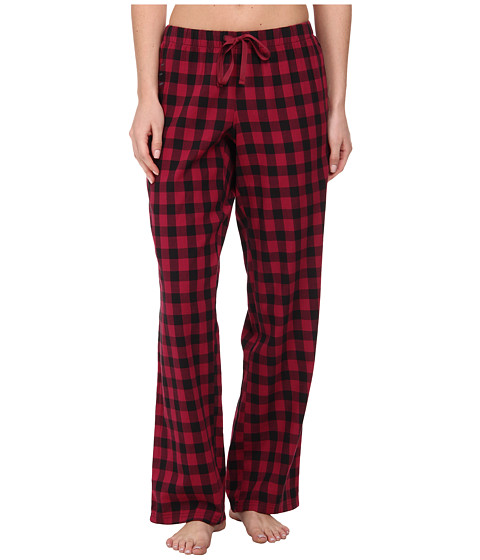 Life is good - Sleep Pants (Wild Cherry Buffalo Check) Women