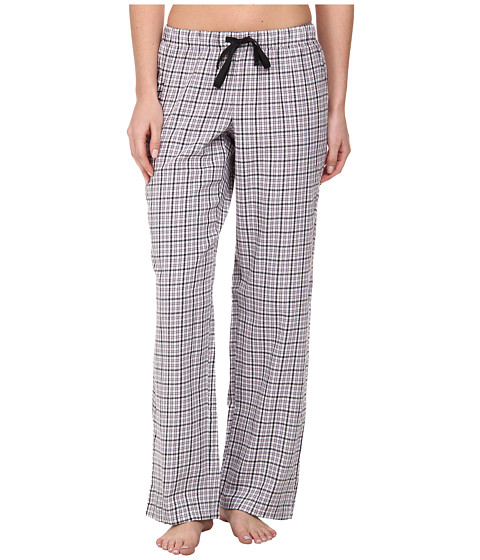 Life is good - Sleep Pants (Cloud White Plaid) Women