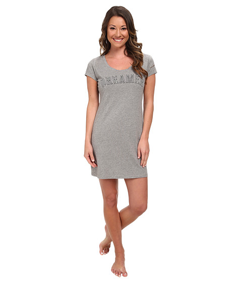 Life is good - Sleep Shirt (Heather Grey) Women's Pajama