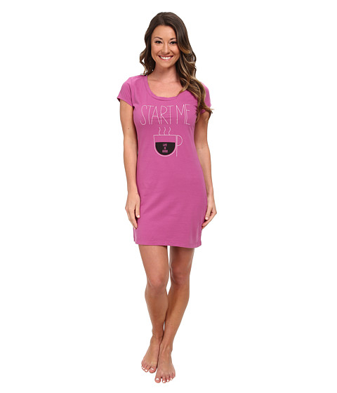 Life is good - Sleep Shirt (Fresh Raspberry) Women's Pajama