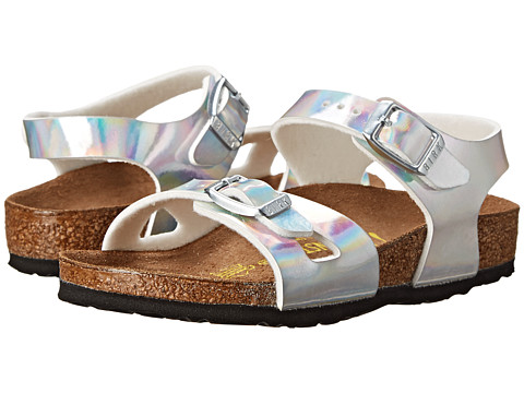 Birkenstock Kids - Rio (Toddler/Little Kid/Big Kid) (Mirror Silver Birko-Flor ) Girls Shoes