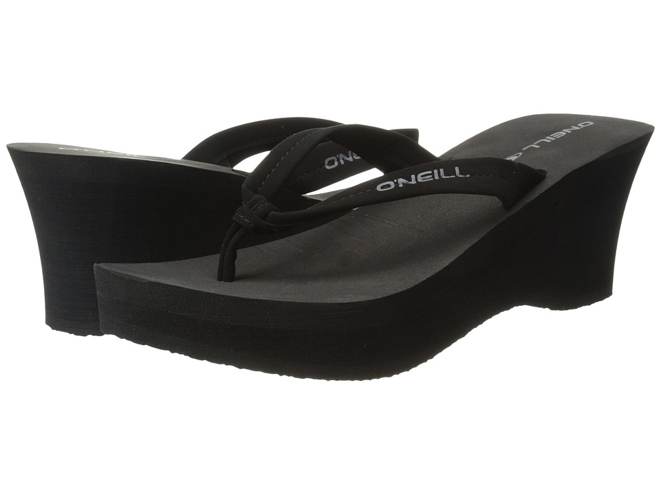 O'Neill - Tiki Ti '15 (Black) Women's Wedge Shoes