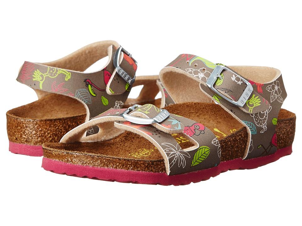 Birkenstock Kids - Rio (Toddler/Little Kid/Big Kid) (Funny Birds Taupe Birko-Flor ) Girls Shoes