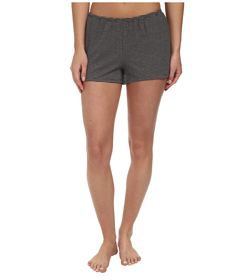 Life is good - Sweetheart Sleep Shorts (Heather Grey Stripe) Women's Pajama