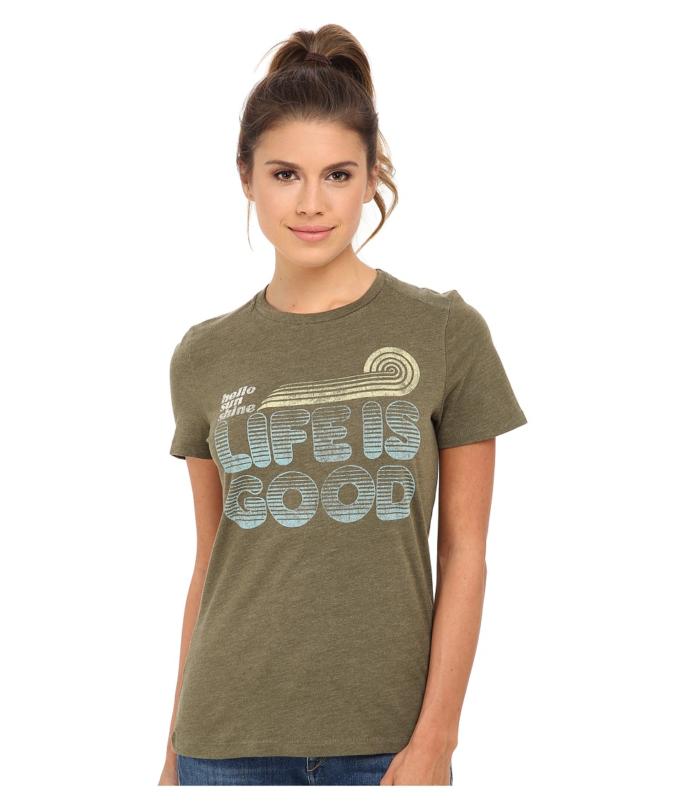 Life is good - Cool Tee (Fatigue Green) Women's Short Sleeve Pullover
