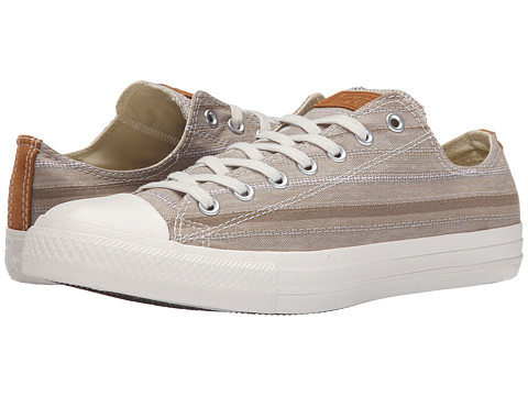 Converse - Chuck Taylor All Star Crafted Textile Ox (Khaki/Acorn/Egret) Shoes