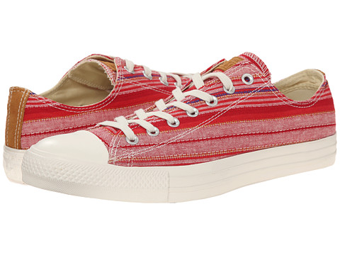 Converse - Chuck Taylor All Star Crafted Textile Ox (Red/Acorn/Egret) Shoes