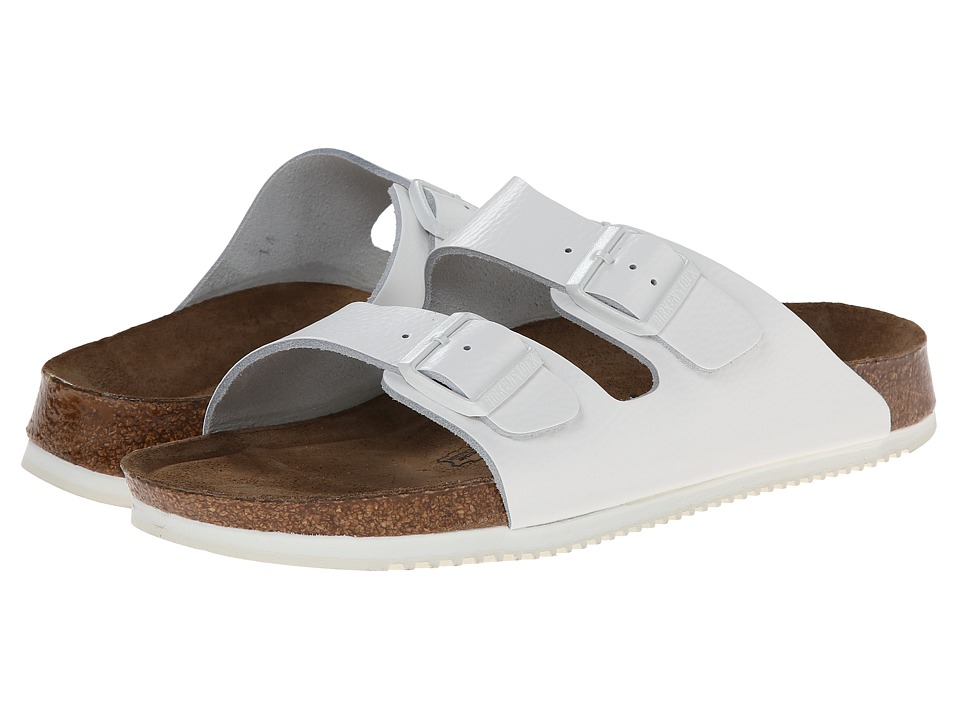 Birkenstock - Arizona Soft Footbed Super Grip (White Leather) Shoes
