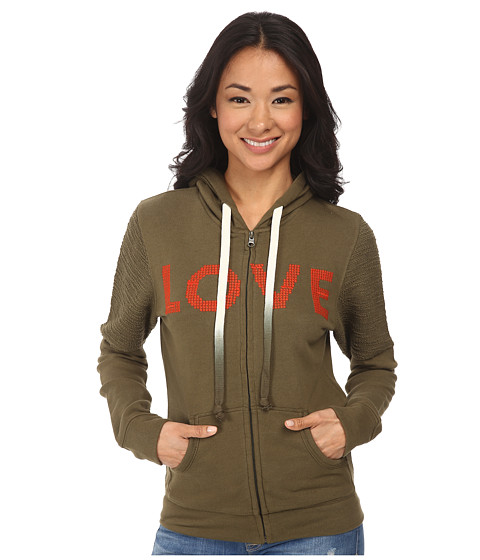 Life is good - Remix Hoodie (Fatigue Green) Women's Sweatshirt