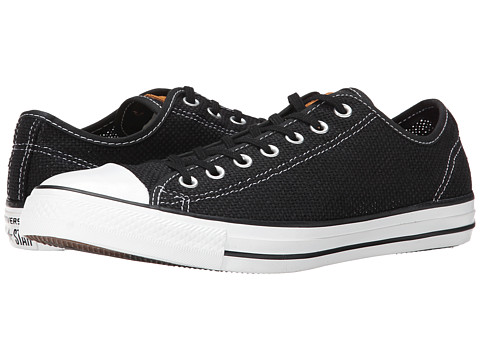 Converse - Chuck Taylor All Star Summer Woven Ox (Black/White/Acorn) Shoes