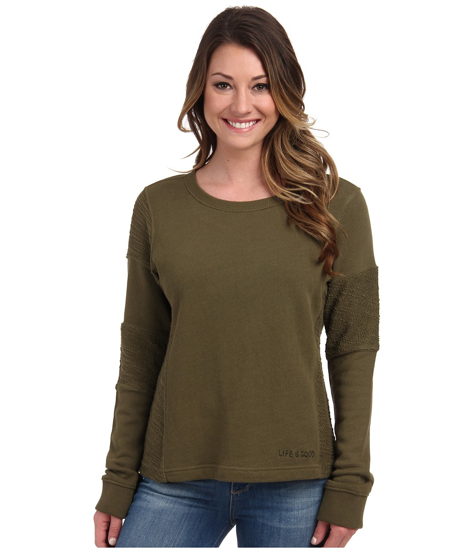 Life is good - Remix Pullover (Fatigue Green) Women's Long Sleeve Pullover