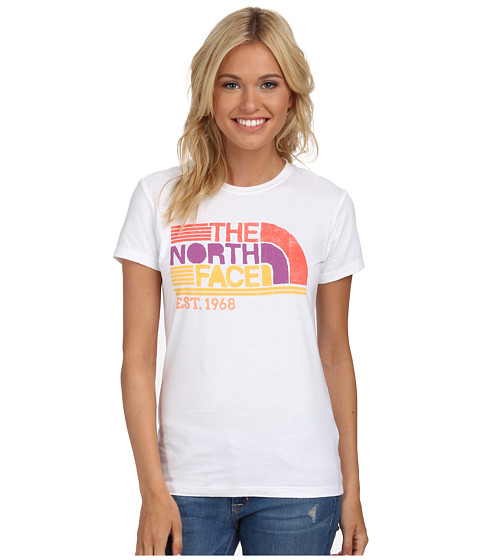The North Face - S/S Boardwalk Graphic Tee (TNF White) Women