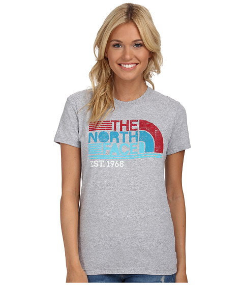 The North Face - S/S Boardwalk Graphic Tee (Heather Grey) Women's T Shirt