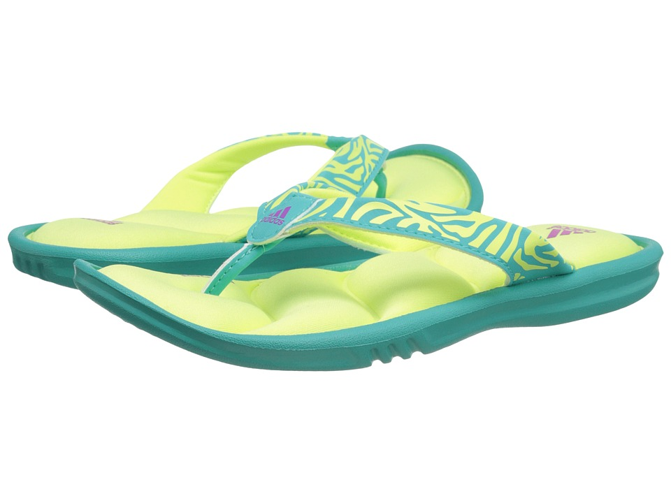 adidas Kids - Chilwyanda FF K (Toddler/Little Kid/Big Kid) (Vivid Mint/Light Flash Yellow/Flash Pink) Girls Shoes