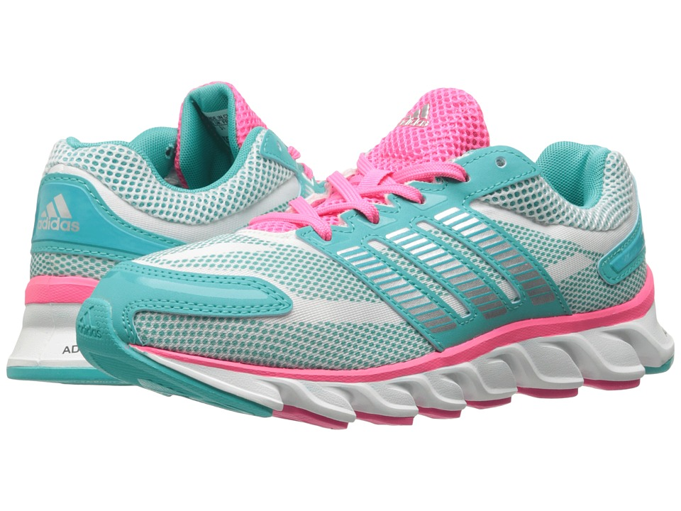 adidas Kids - Powerblaze K (Little Kid/Big Kid) (Vivid Mint/White/Solar Pink) Girls Shoes