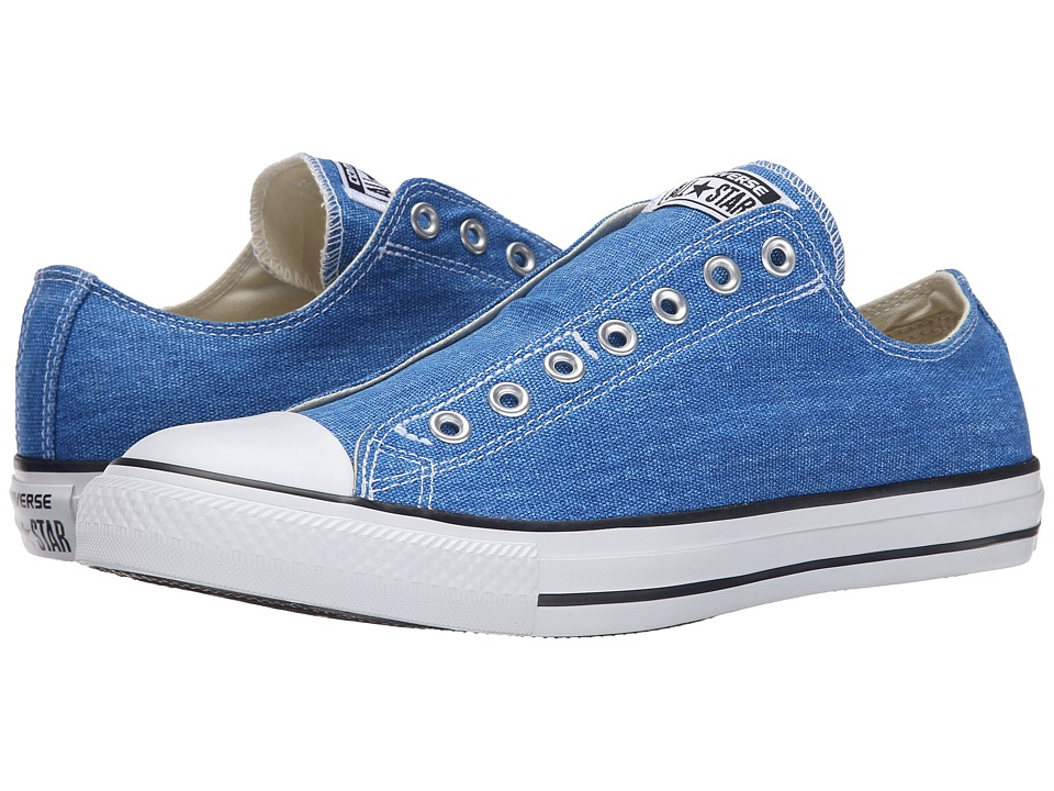 Converse - Chuck Taylor All Star Washed Textile Slip (Vision Blue/White/Black) Shoes