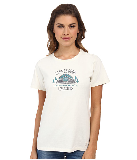 Life is good - Less Is More Tent Crusher Tee (Simply Ivory) Women's T Shirt