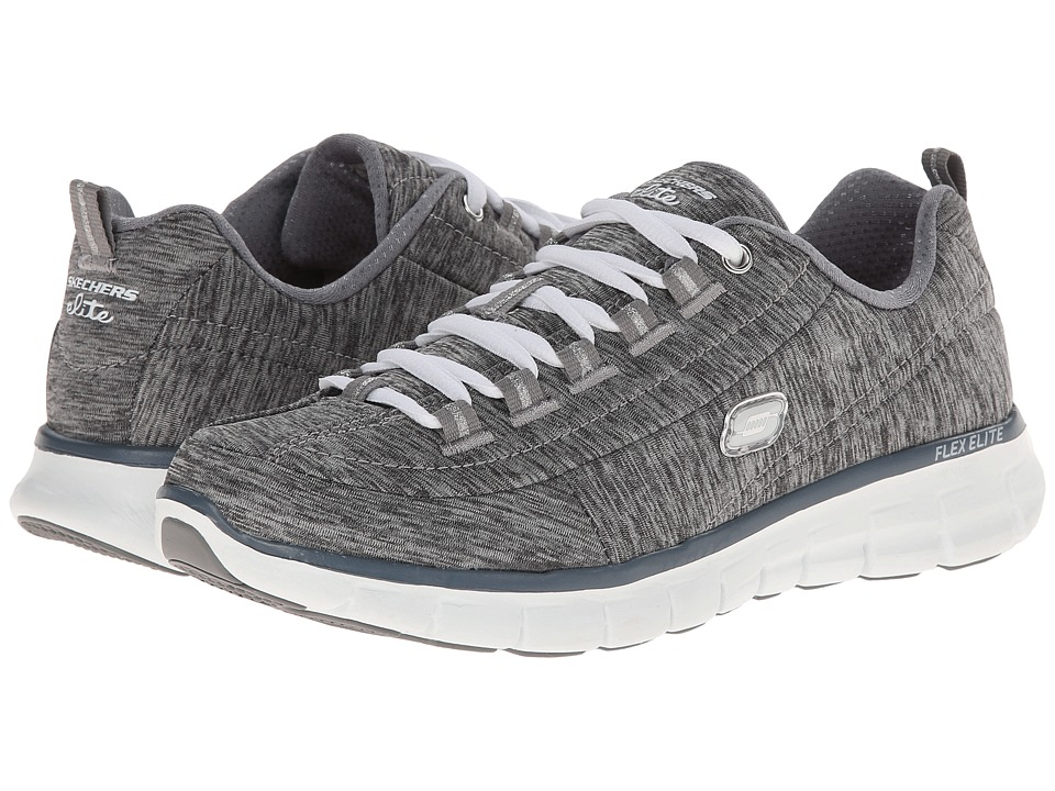 SKECHERS - Spot On (Gray) Women's Running Shoes
