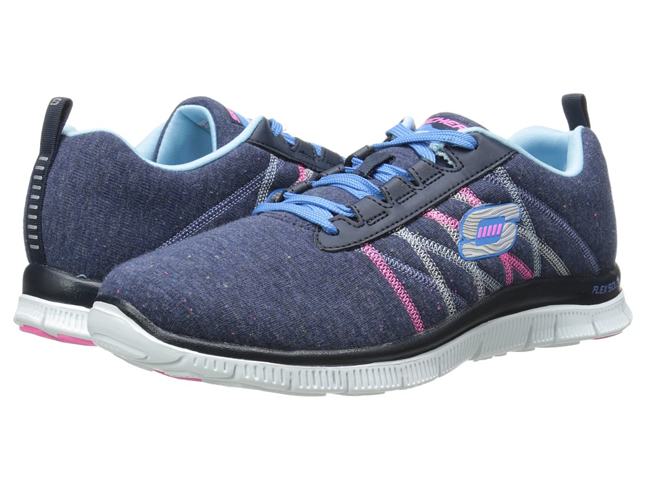 SKECHERS - Flex Appeal - Miracle Work (Navy/Multi) Women's Running Shoes