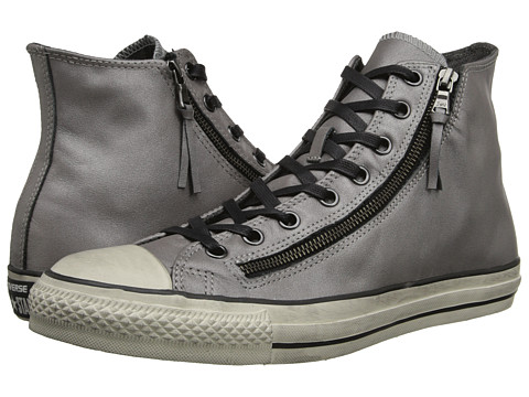 Converse by John Varvatos - Chuck Taylor All Star Double Zip Silver Brushed Leather (Silver) Lace up casual Shoes