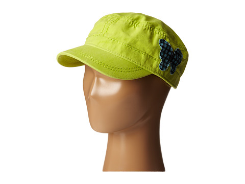 Life is good Kids - Butterfly Cutie Cadet Cap (Toddler/Little Kids/Big Kids) (Chartreuse Green) Caps