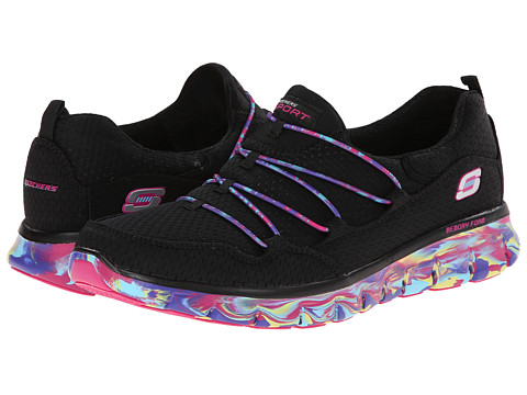 SKECHERS - Synergy - Inner Peace (Black/Multi) Women's Slip on Shoes