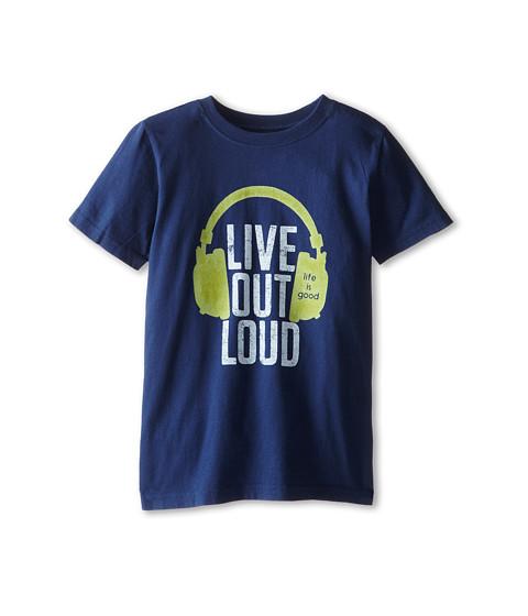 Life is good Kids - Live Out Loud Easy Tee (Little Kids/Big Kids) (Darkest Blue) Boy's Short Sleeve Pullover