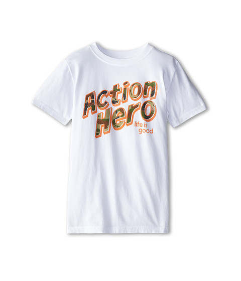 Life is good Kids - Hero Camo Easy Tee (Little Kids/Big Kids) (Cloud White) Boy