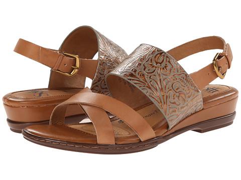 Sofft - Sassandra (Luggage Vege/Gold Western Tool) Women's Sandals