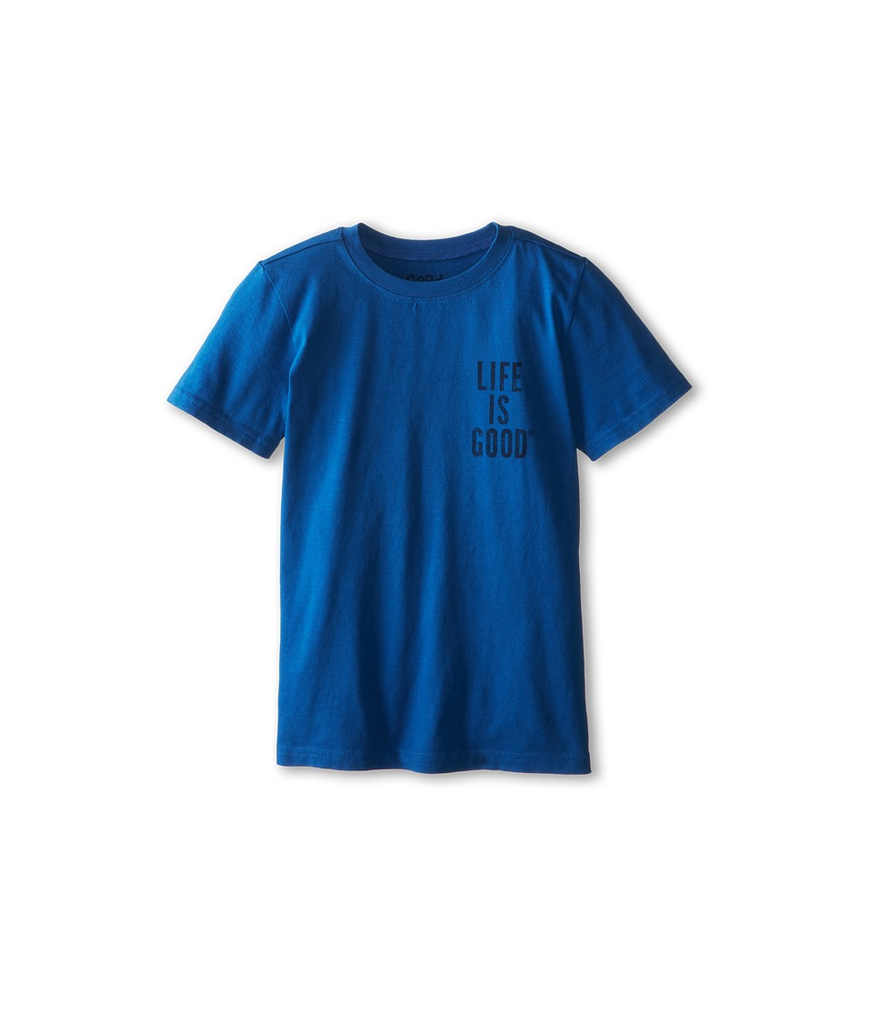 Life is good Kids - Giant Jake Football Easy Tee (Little Kids/Big Kids) (Sapphire Blue) Boy