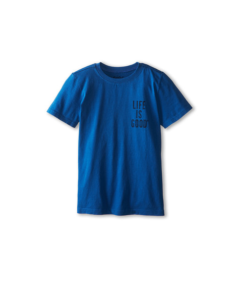 Life is good Kids - Giant Jake Football Easy Tee (Little Kids/Big Kids) (Sapphire Blue) Boy's T Shirt