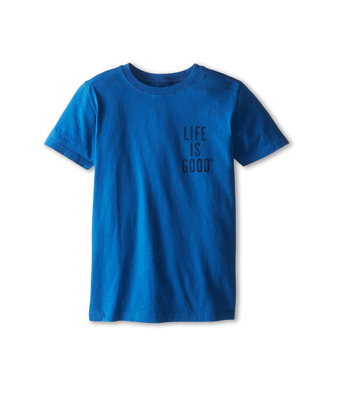 Life is good Kids - Go Sea Do Shark Easy Tee (Little Kids/Big Kids) (Sapphire Blue) Boy